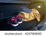 leather bag and sport shoe in...   Shutterstock . vector #424784830