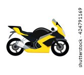 cool motorcycle isolated on... | Shutterstock .eps vector #424791169