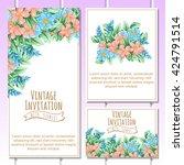 romantic invitation. wedding ... | Shutterstock . vector #424791514