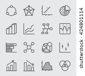 graph and diagram line icon 1 | Shutterstock .eps vector #424801114