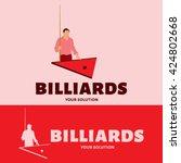 vector logo billiard. the...