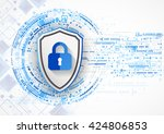 protection concept of digital... | Shutterstock .eps vector #424806853