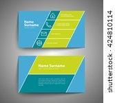 modern simple business card set ... | Shutterstock .eps vector #424810114