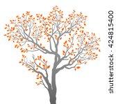 vector tree silhouette  | Shutterstock .eps vector #424815400