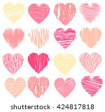 vector collection of scribbled... | Shutterstock .eps vector #424817818