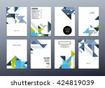 geometric vector background....   Shutterstock .eps vector #424819039