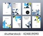 geometric vector background....   Shutterstock .eps vector #424819090