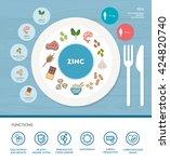 zinc mineral nutrition... | Shutterstock .eps vector #424820740