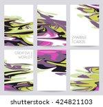 vector set ink hand drawn... | Shutterstock .eps vector #424821103