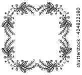 floral nature pattern frame... | Shutterstock .eps vector #424822180