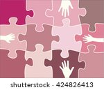 puzzle shapes background | Shutterstock .eps vector #424826413