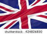 3d illustration of uk flag | Shutterstock . vector #424826830