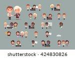 business people vector set | Shutterstock .eps vector #424830826