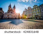 fantastic view of the temple of ... | Shutterstock . vector #424831648