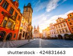 fantastic view of the town hall ... | Shutterstock . vector #424831663