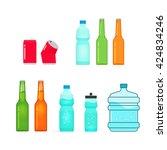 bottles vector collection... | Shutterstock .eps vector #424834246