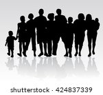people silhouettes | Shutterstock .eps vector #424837339