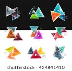 collection of triangle web... | Shutterstock .eps vector #424841410