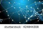 abstract technology futuristic... | Shutterstock . vector #424844308