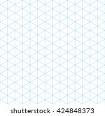isometric grid seamless pattern | Shutterstock . vector #424848373