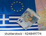 Euro Money On The Background O...
