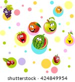 funny fruit with colorful... | Shutterstock .eps vector #424849954