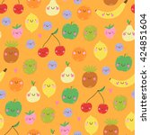 cute seamless pattern with... | Shutterstock .eps vector #424851604