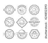 restaurant logo in liner style. ... | Shutterstock . vector #424852393
