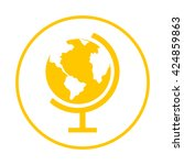 globe icon.  | Shutterstock .eps vector #424859863