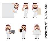 Set Of Arabian Man Character I...