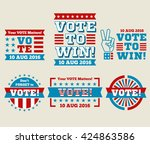 encourage voting usa 2016... | Shutterstock .eps vector #424863586