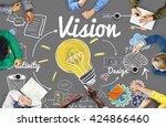 vision creative ideas design...   Shutterstock . vector #424866460