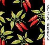 vector seamless pattern. branch ...   Shutterstock .eps vector #424867408