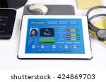 electronic medical record show... | Shutterstock . vector #424869703
