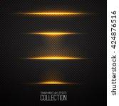 glowing light effects... | Shutterstock .eps vector #424876516
