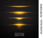 glowing light effects... | Shutterstock .eps vector #424876843