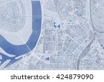 map of dusseldorf  satellite... | Shutterstock . vector #424879090