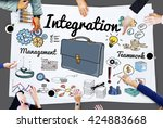 Small photo of Integration Blend Combine Merge Unite Consolidate Concept