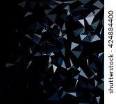 black polygonal mosaic... | Shutterstock .eps vector #424884400