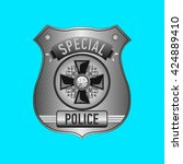 vector police badge | Shutterstock .eps vector #424889410
