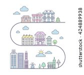 city flat vector | Shutterstock .eps vector #424889938