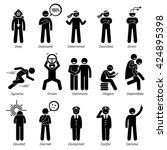 positive personalities... | Shutterstock .eps vector #424895398