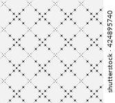 black and white seamless... | Shutterstock .eps vector #424895740