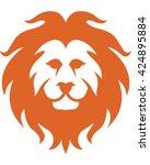 lion head   vector illustration.... | Shutterstock .eps vector #424895884