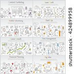 hand drawn business ideas... | Shutterstock .eps vector #424899958