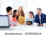 business  startup  education... | Shutterstock . vector #424904014