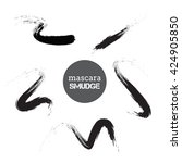 black mascara vector smudges... | Shutterstock .eps vector #424905850