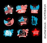 independence day set sign in... | Shutterstock .eps vector #424906414