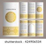 vintage islamic style brochure... | Shutterstock .eps vector #424906534