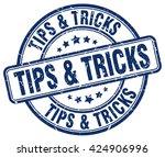 tips   tricks. stamp | Shutterstock .eps vector #424906996